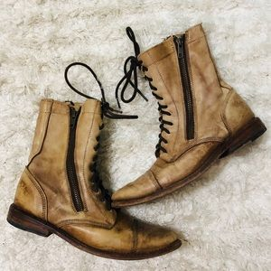 Bed Stu distressed leather combat boots 7.5